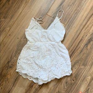 Tobi Other - White lace romper